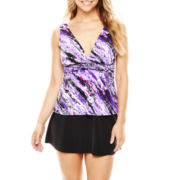 Trimshaper® V-Neck Tankini Swim Top or Skirted Bottoms