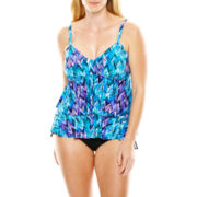 Trimshaper® Tiered Tankini Swim Top or Side-Tie Briefs - Plus