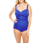 Trimshaper® Solid Control One-Piece Tank Swimsuit - Plus