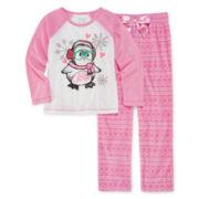 Sleep On It Penguin Pajamas - Preschool Girls 4-6x