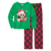 Sleep On It Panda Selfie Pajamas - Preschool Girls 4-6x