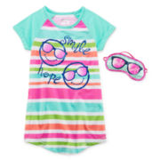 Sleep On It Smile Sleep Shirt - Preschool Girls 4-6x