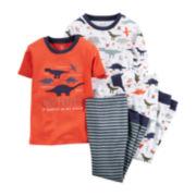 Carter's® 4-pc. Dinosaur Pajamas - Toddler Boys 2t-5t