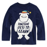 Okie Dokie® Long-Sleeve Graphic Tee - Toddler Boys 2t-5t