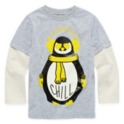 Okie Dokie® Faux-Layered Graphic Tee - Toddler Boys 2t-5t