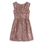 Emerald Sundae Sequin Skater Dress - Girls 7-16