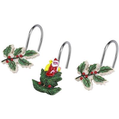 Spode® Christmas Tree Shower Curtain Hooks