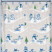 Polar Slopes Shower Curtain with Hooks