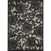 Nourison® Floral Lace Rectangular Rug