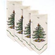 Avanti Spode Christmas Tree Set of 4 Napkins