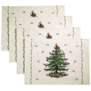 Avanti Spode Christmas Tree Set of 4 Placemats
