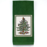 Avanti Spode Christmas Tree Appliqué Kitchen Towel