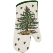Avanti Spode Christmas Tree Oven Mitt and Potholder