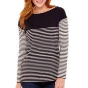 Liz Claiborne® 3/4-Sleeve Boatneck Tunic