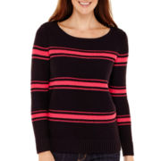 Liz Claiborne® Long-Sleeve Nautical Striped Sweater