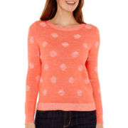 Liz Claiborne® Long-Sleeve Dot Sweater