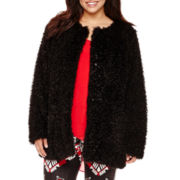 Bisou Bisou® Faux-Fur Jacket - Plus