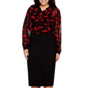 Bisou Bisou® Ruffle Blouse or Jersey Tube Skirt - Plus