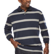 The Foundry Supply Co.™ Striped Sueded Polo - Big & Tall