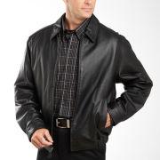 St. John's Bay® Leather Bomber Jacket