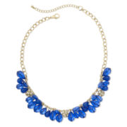 Blue Teardrop Shaky Necklace