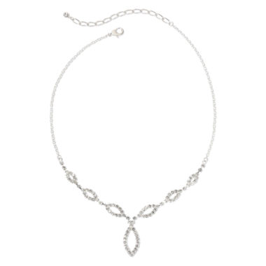 jcpenney.com | Vieste Silver-Tone & Rhinestone Graduated Y Necklace