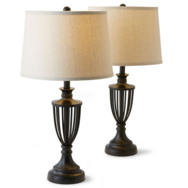 jcpenney.com | JCPenney Home™ Set of 2 Cage Table Lamps
