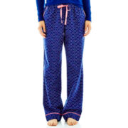 Liz Claiborne Flannel Sleep Pants - Tall