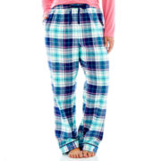 Liz Claiborne Flannel Sleep Pants - Plus