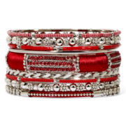 Mixit™ Silver-Tone Red 9-pc. Bracelet Set