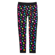 Capelli of New York Rainbow Heart Fleece-Lined Leggings - Girls 4-14