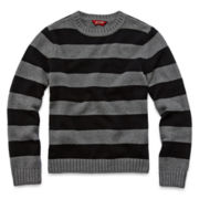 Arizona Long-Sleeve Striped Pullover Jacquard Sweater – Boys 6-18