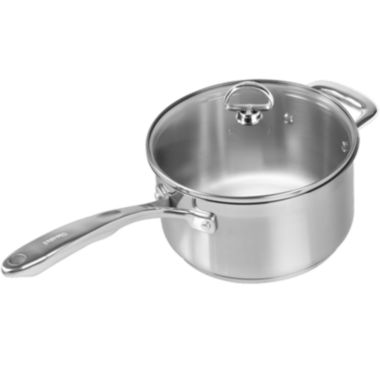 jcpenney.com | Chantal® Induction 21 Steel™ 3½-qt. Saucepan with Glass Lid