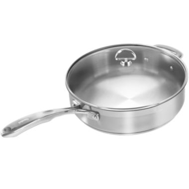 jcpenney.com | Chantal® Induction 21 Steel™ 5-qt. Sauté Skillet with Glass Lid