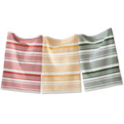 Dots & Stripes Set of 3 Dish Towels
