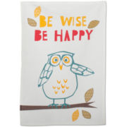 Be Wise Owl Dish Towel