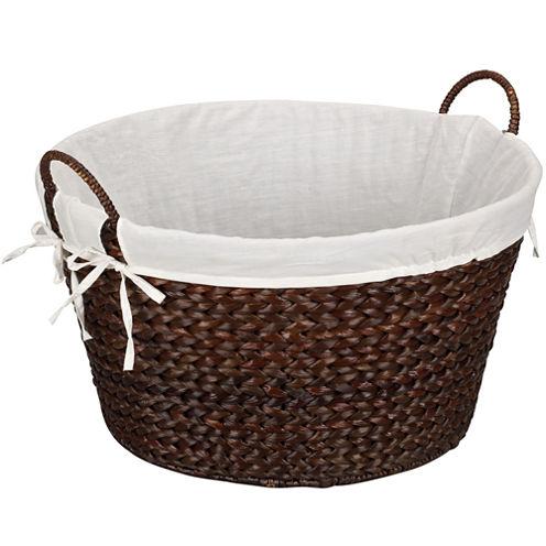 Household Essentials® Round Banana Leaf Laundry Basket