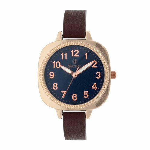 Decree Womens Brown Strap Watch-Dcr272