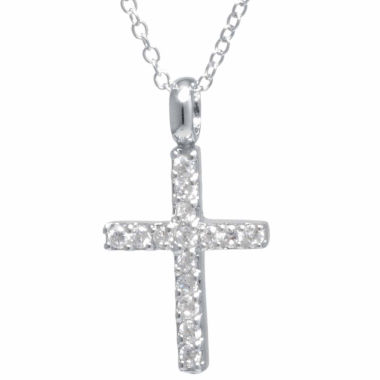 jcpenney.com | Silver Treasures Womens Cubic Zirconia Sterling Silver Pendant Necklace