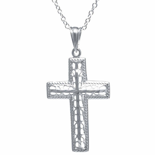 Silver Treasures Womens Sterling Silver Pendant Necklace