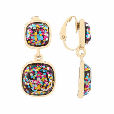 jcpenney.com | Liz Claiborne Multi Color Goldtone Clip On Earrings