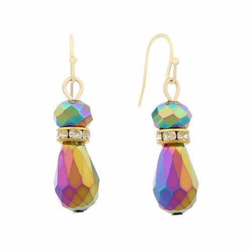 Liz Claiborne Mutli Color Drop Bead Earrings