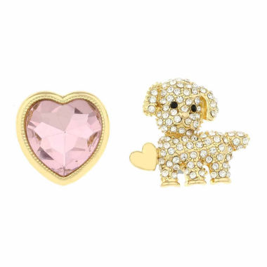 jcpenney.com | Monet Jewelry Pink Clear And Goldtone Duo Pin