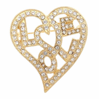 jcpenney.com | Monet Jewelry Clear And Goldtone Love Pin