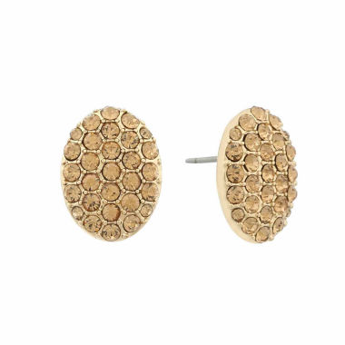 jcpenney.com | Monet Brown And Goldtone Button Earring