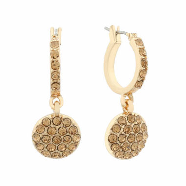 jcpenney.com | Monet Brown And Goldtone Hoop Drop Earring