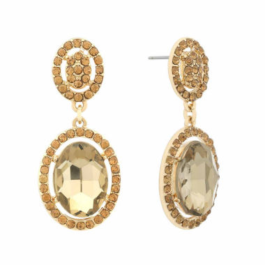 jcpenney.com | Monet Brown And Goldtone Drama Earring