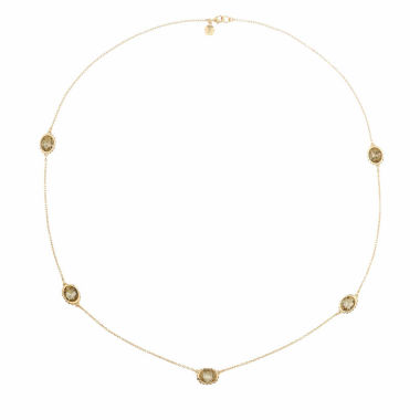 jcpenney.com | Monet Jewelry Womens Brown And Goldtone Station Necklace