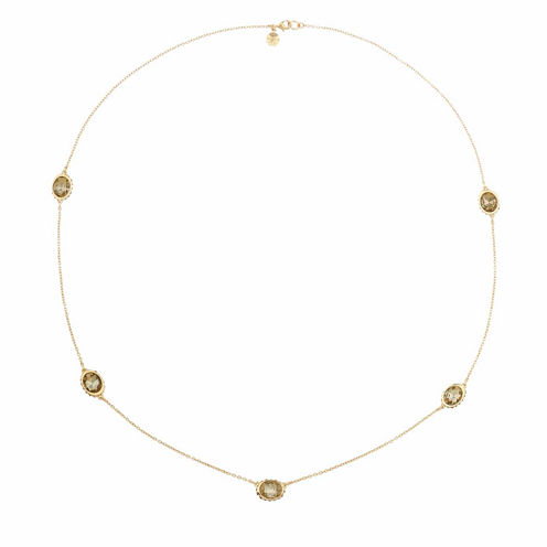 Monet Jewelry Womens Brown And Goldtone Station Necklace