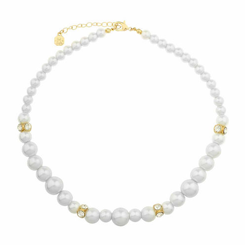 Monet Jewelry White And Goldtone Collar Necklace